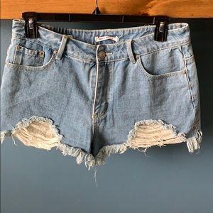 High rise shortie shorts!